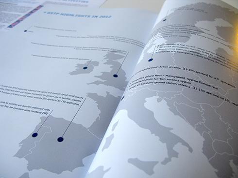 Editorial Memoria GSTP ESA 2013 Mapa Europa